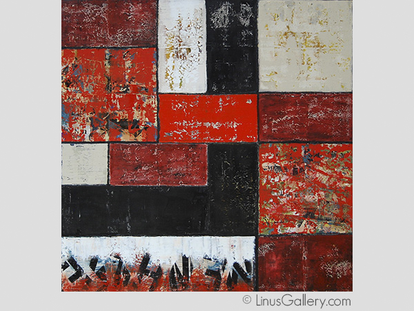 red art galleries los angeles The Red Show Artist Janet Hamilton | Red Abstract I